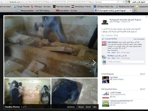 Heiligtümer vernichtet durch ISIS Al-Qaedas