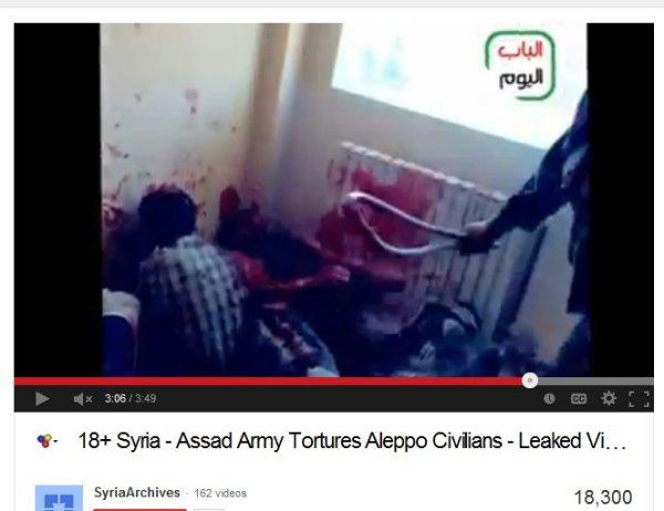 """Unvorstellbar brutale Folter, die Schläger und Mörder ausstaffiert als """"syrische Soldaten"""""""