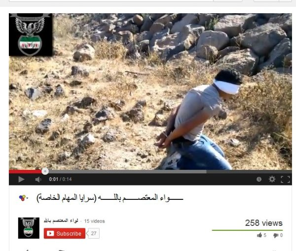 Ein ganz junger Mann von den FSA-Banden ermordet. Auch er ist zivil gekleidet, gefesselt und die Augen verbunden