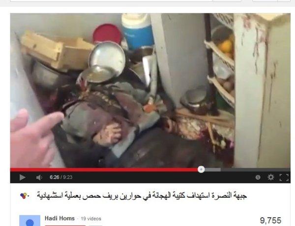 Kriegsverbrecher Hadi Abdallah unterwegs bei Homs mit seinen neuen alten Freunden von der FSA-Jabhat al Nusra-Al-Qaeda-Front
