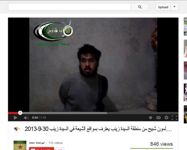 Geisel aus Maaloula in der Hand der Yabroud-Baba Amr-Terroristenmilizen  welche auch Al-Qaedas in  ihren Reihen haben