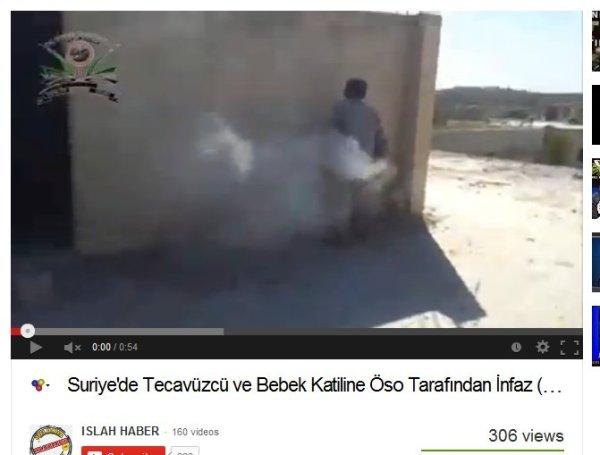 Mit Maschinengewehren zusammengeschossen unter dem Gejohle der Milizen