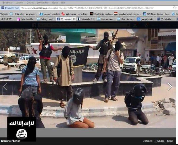 "Raqqa- Erneute Morde wo doch HRW die ""Rebellen"" so gelobt hatte"