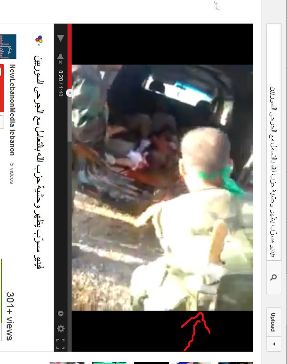 Anführer mit Schlachtermesser auf dem Rücken. Ein Al-Qaeda?