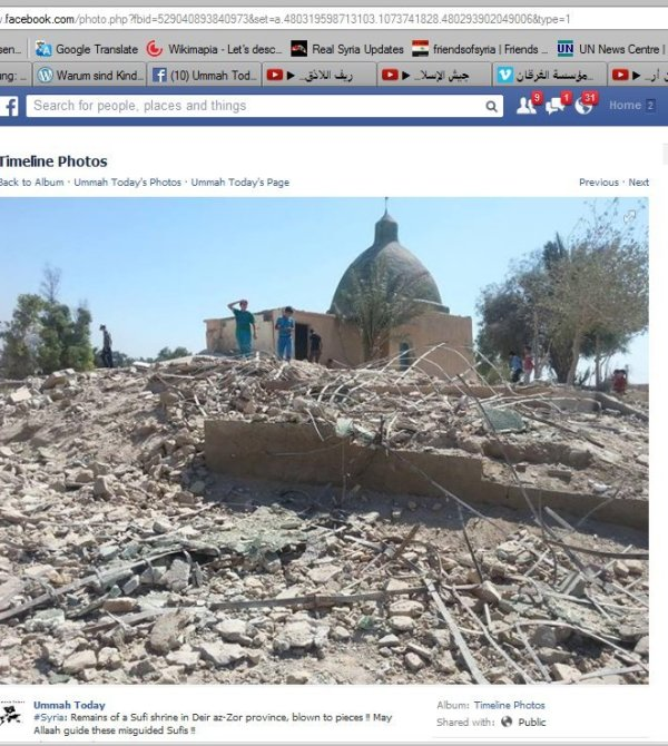 Komplett zerstört bei Deir Ezzor
