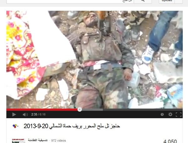 Einer der vermutlich gefallenen Soldaten aus dem LKW