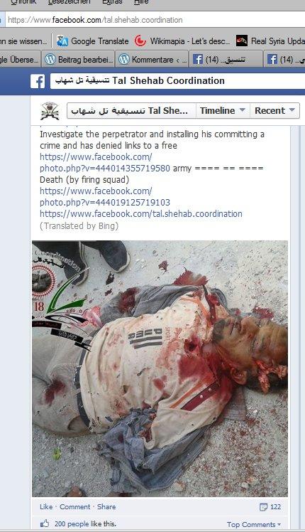 Tal Shehab- Zum Tode verurteilt und zusammengeschossen