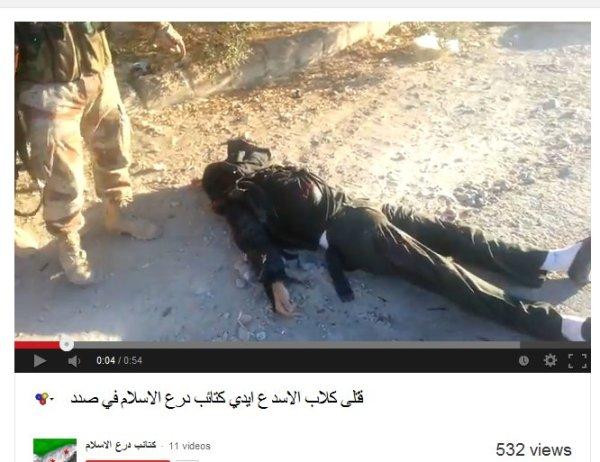 Gesponserter Mörder mit einem Opfer in Sadad.