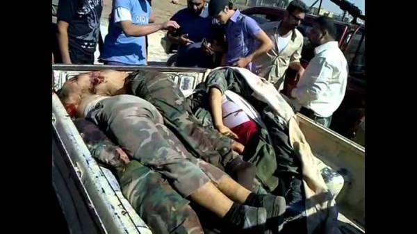 Alle geköpft,Leichen geschändet. East-Goutha
