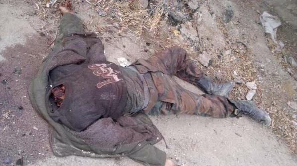 Soldat enthauptet, vermutlich Damaskus East-Gotha