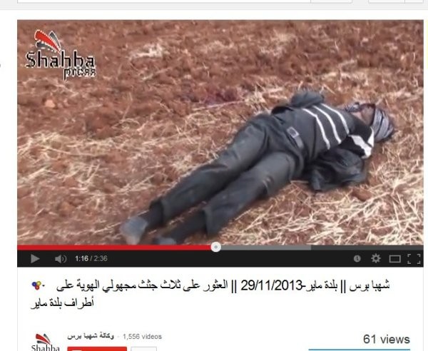 Ermordet, der leichnam wurde bereits einmal bewegt, in der Nähe dunkle Flecken...Was wurde alles aus dem video entfernt, was wurde nicht gezeigt?