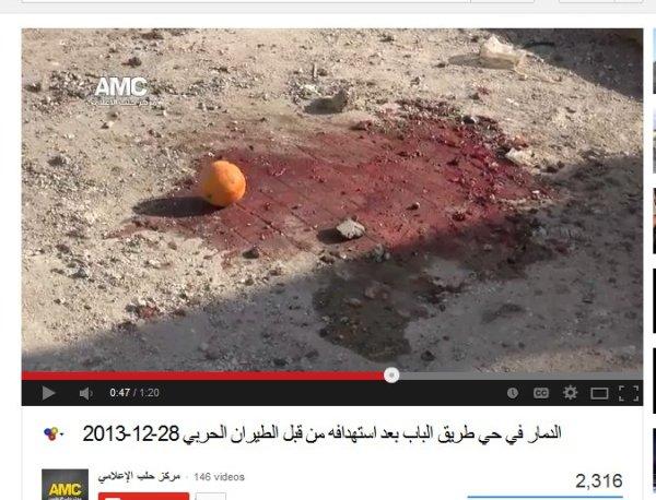 Ein Stilleben mit Orange um die Propaganda zu zementieren. Genauso plump wie bei Halfaya....die Opposition hat gesagt, dass...
