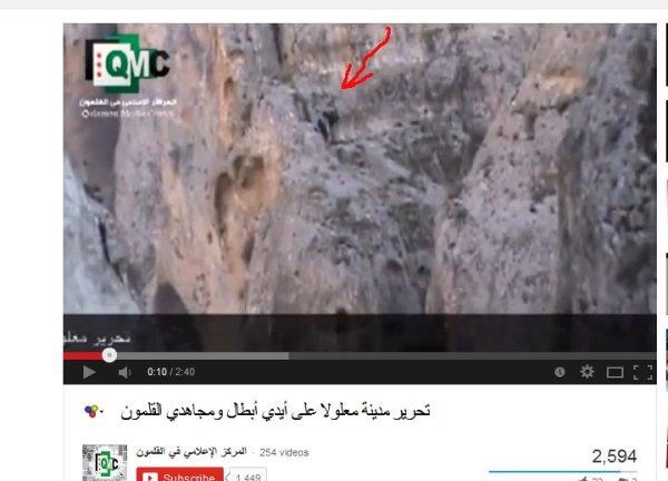 Maaloula Terroristen in den Berghängen