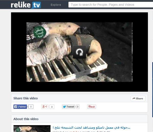 Geköpft und die körper beschriftet von den FSA-Al-Kaida-Terroristen