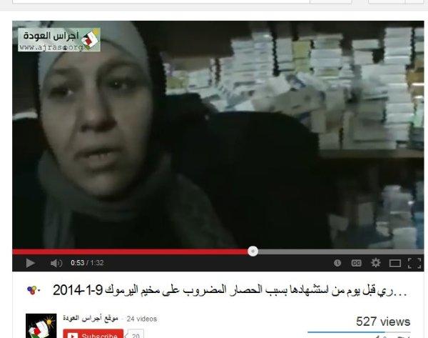 Eine andere Frau mit dem gleichen kind. Die Regale sind mit Medikamenten gefüllt obwohl Mangel herrschen soll wegen der blockade