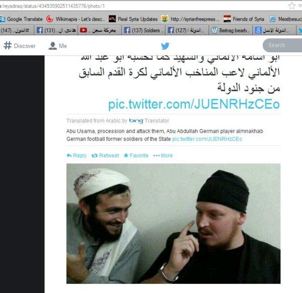 Deutscher Jihadist in Syrien mit Kumpel