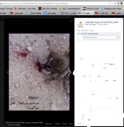 Ebenfalls von der FB-Seite der Bashir-Unterstützer