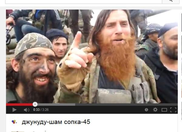 """Auch einer der moderaten NATO-Söldner gegen Syrien. Der Aufständische Aktivist aus Tschetschenien namens """"Omar"""""""
