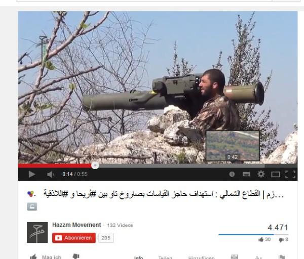 Neue Waffen für terroristen welche  in Hama, Idlib -Ariha und auch Lattakia morden
