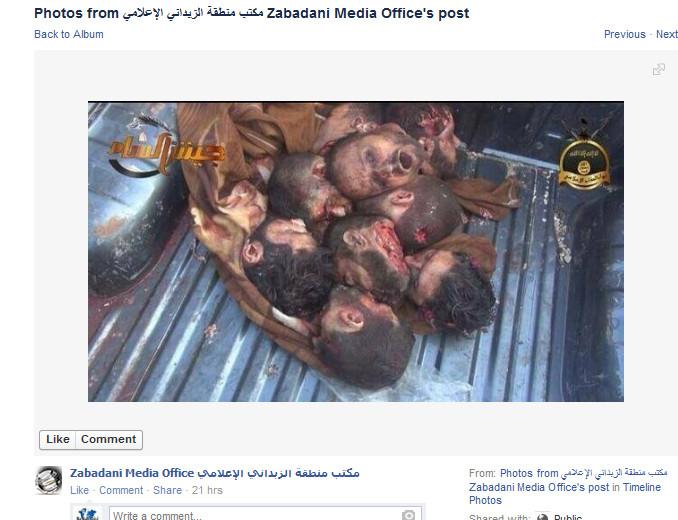 Vermutlich südwestlich in den Qalamoun-Bergen-Zabadani Terroristen schneiden Köpfe ab. Des Westens gemäßigte Kräfte, unterstützt von den Freunden Syriens, darunter auch die Merkel