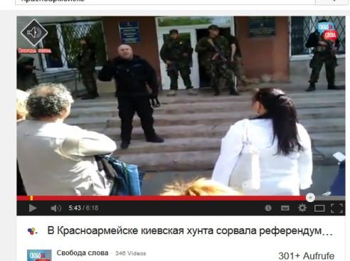 Kiewer Kotzbrocken mit Bewaffneten haben ein Wahllokal besetzt