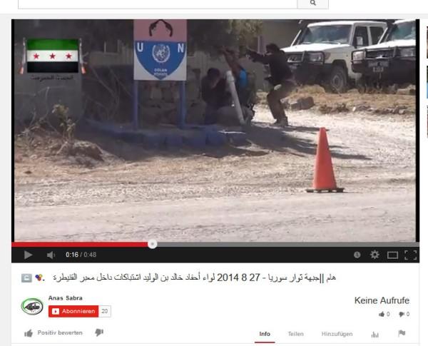 Terroristen und UN-Fahrzeuge