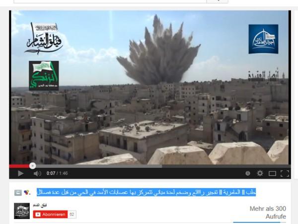 Aleppo Tonnenschwere Bombe