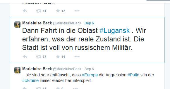 Beck nie in Lugansk