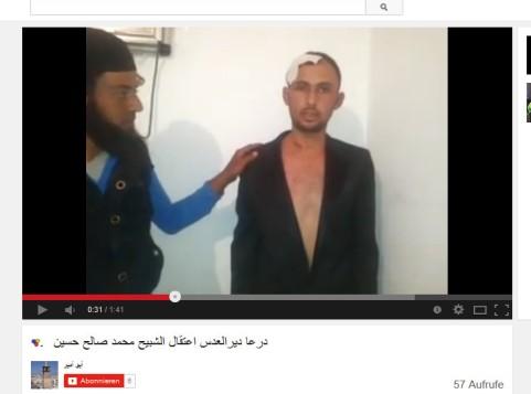 Vorzeige-Gefangener der Daraa Terroristen