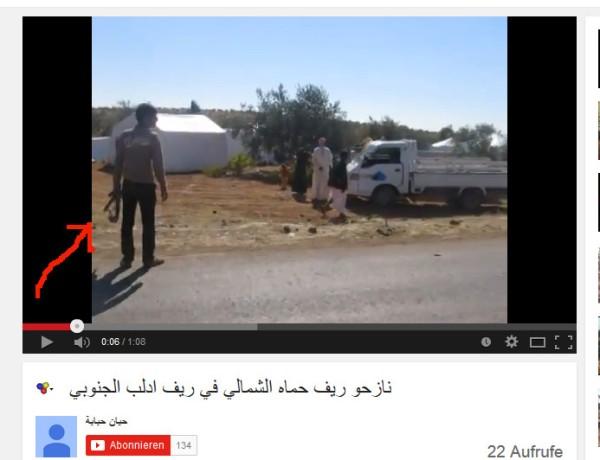 Ein Camp mit Bewaffneten