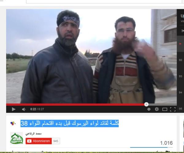 Zoubi und Jabhat al Nusra-Kommandeur