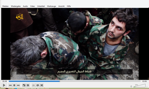 Drei Soldaten in Raqqa