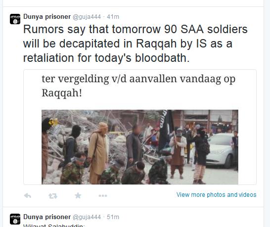 IS Raqqa droht