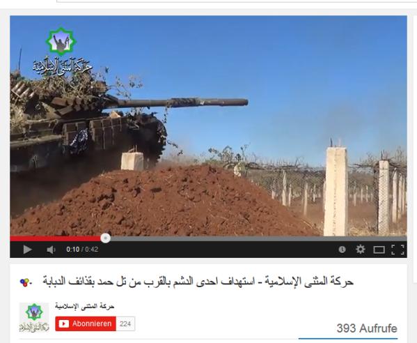 Panzer Al-Kaida beflaggt