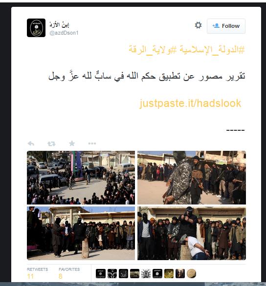 Öffentliches Morden Raqqa