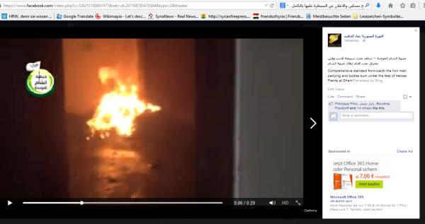Menschen verbrannt durch FSA