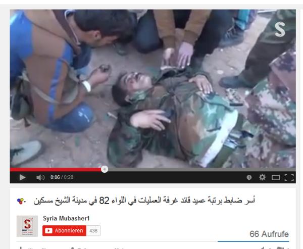 Der Kommandeur schwer verwundet