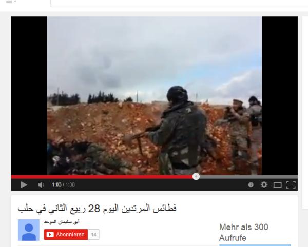 Aleppo Leichen geschossen
