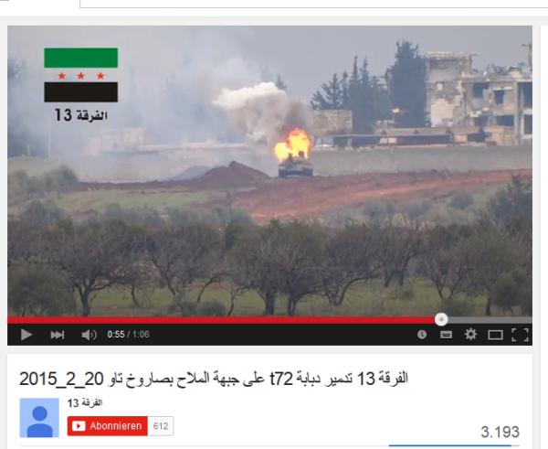 Aleppo Mallah TOW US mordet mit Al-Kaida