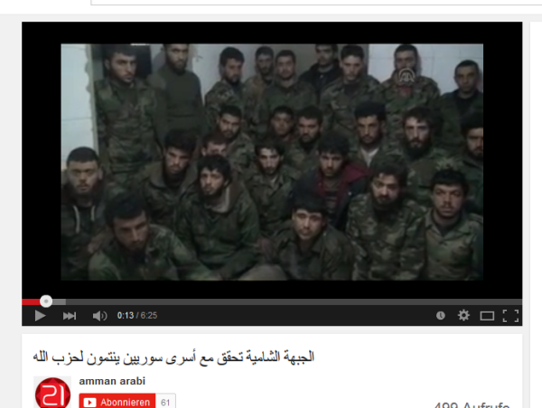 Geiseln Aleppo gefoltert