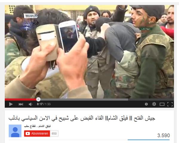 Idlib gefangener junger Bär