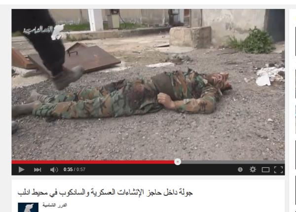 Idlib Kopf zerschossen