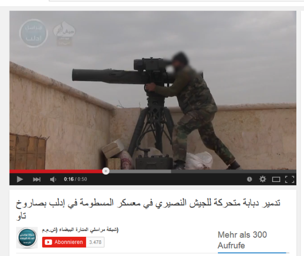 Idlib US-Bewaffnung al kaida