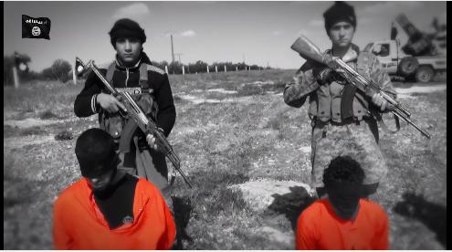 IS-Kinder mit Opfern