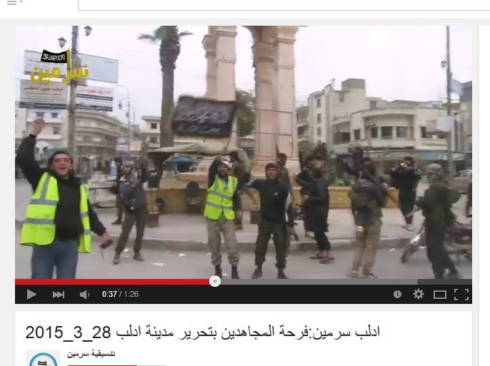 SarmeenWeißHelme mit Jabahta al Nusra Banner