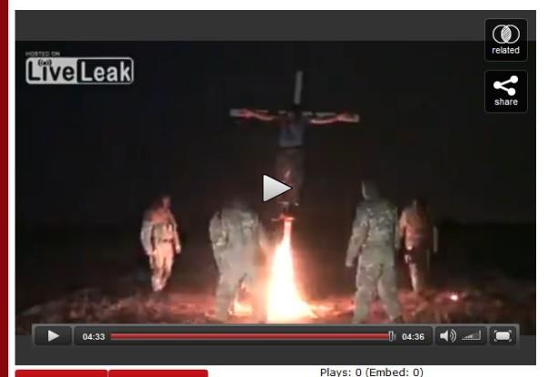 Ukraine Faschismus brennend