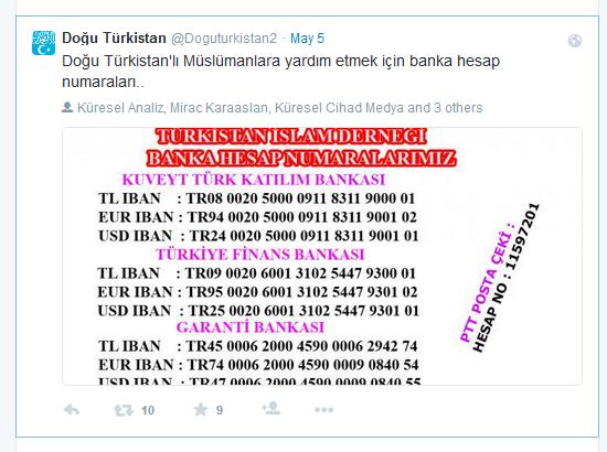 Türkistanspenden Konto Türkei