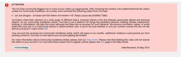 zensur Youtube