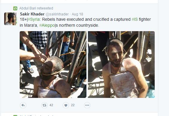 Rebellen Kreuzigen ISIS