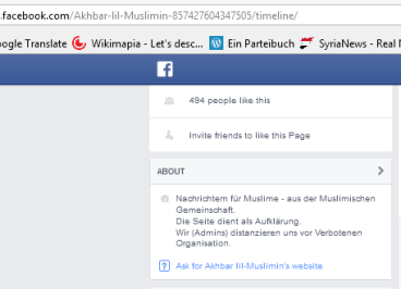 Muslimin about FB
